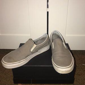 Grey Slip on Vans- Women's Size 9